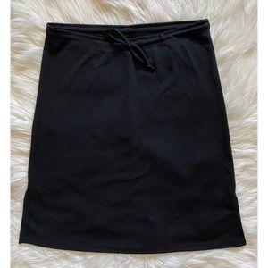 Stretch tie front mini skirt